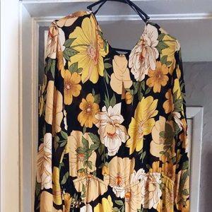 Forever 21 Plus Floral Maxi Dress